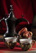 An antique, arabic coffee set.