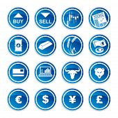 image of scalping  - set trading icons on a white background - JPG