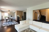stock photo of duplex  - interior luxury apartment - JPG