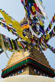 Bodhnath stupa also called Boudhanath is the largest stupa in the world, Kathmandu, Nepal