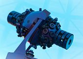 foto of planetarium  - Expensive star projector inside a large planetarium - JPG