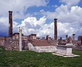 Tempel des Apollo, Pompeji, Italien.