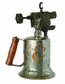picture of blow torch  - Isolate image of an antique blow torch - JPG