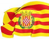 Bandeira da província de Girona, Espanha.