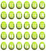 Easter Egg Font - Lime Green