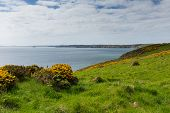 Pembrokeshire coast towards Newgale and Rickets Head St Brides Bay Wales from Nolton Haven