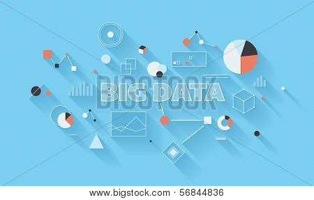 Big Data Analysis Illustration poster