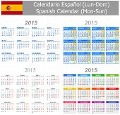 2015 Spanish Mix Calendar Mon-Sun