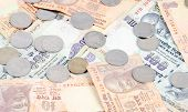 foto of indian currency  - Indoor shoot Indian currency Rupees and coins - JPG