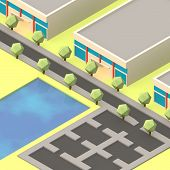 Isometric Commercial Street