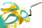 stock photo of venice carnival  - Carnival mask isolated on pure white background - JPG