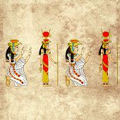 stock photo of isis  - Seamless background with Egyptian goddess Isis image - JPG