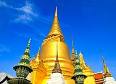 stock photo of tantric  - A golden pagoda Grand Palace  - JPG