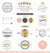 DESIGN GRAPHIC ELEMENTS. GOLD. BRAND IDENTITY.