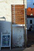 ZAGREB, CROATIA - JANUARY 12, 2014: Guidepost in Zagreb, Croatia