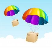 pic of shipping receiving  - Vector parachute background - JPG