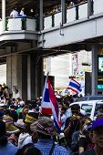Bangkok,thailand- January 13 : Big Day At Asoke Bts Anti Yingluck Government Protestors Asking To Re