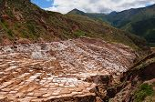 image of salt mine  - Peru Salinas de Maras Pre Inca traditional salt mine  - JPG