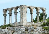 Landscape Near Carcassonne: Ruins