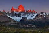 picture of andes  - Mount Fitz Roy - JPG