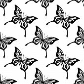 Repeat Seamless Pattern Of Butterflies