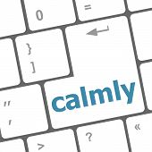 Calmly Key On Computer Keyboard Button