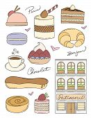 foto of french pastry  - French Pastry Shop and Pastries - JPG