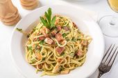 Classic Italian Cuisine Spaghetti Carbonara
