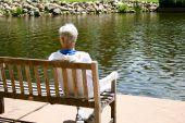 Senior woman at the park