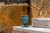 Urn on grave