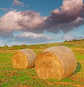 Bales And Clouds