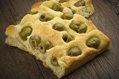 Focaccia with olives