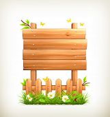 Wooden sign in grass, bitmap copy