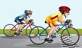 Illustration of a biking race