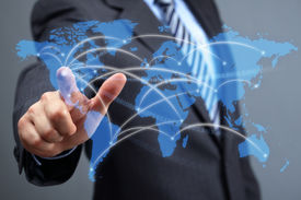 picture of network  - Global communications network - JPG