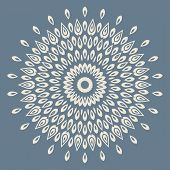 stock photo of doilies  - Contemporary doily round lace floral pattern card - JPG