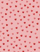 pic of valentine heart  - Background filled with red hearts - JPG