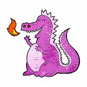 pic of fire-breathing  - cartoon fire breathing dragon - JPG