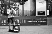 BUSKERS, KYIV, KHRESCHATIK STREET - JUNE 2014.