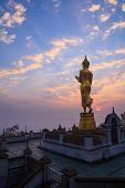 Buddha Statue Standing At Wat Phra That Khao Noi In Nan,thailand