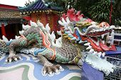 Colorful Dragon Sculpture In Repulse Bay Temple, Hong Kong