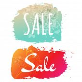 Sale Banner Set, Vector Illustration