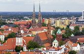 Aerial View Of Numerous Church Towers And Spires In Wroclaw, Poland