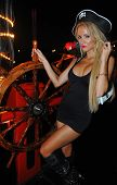 pic of playmates  - Model poses sexy at Pirates boat wearing carnival costume - JPG