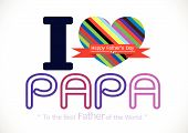 Happy Father's Day card , love PAPA or DAD