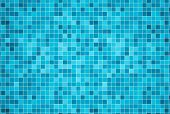 3D Render Background Of Swimming Pool Tiles