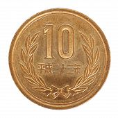 picture of japanese coin  - close  - JPG