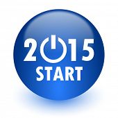 new year 2015 computer icon on white background