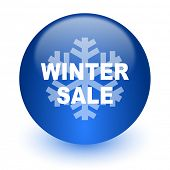 winter sale computer icon on white background