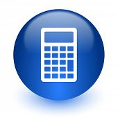 calculator computer icon on white background